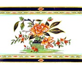 """Vintage Daher Decorated Ware Rectangle Serving Tray Metal Wall Art 14"""" x 7.5"""""""