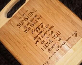 "Bamboo ""You Are My Sunshine"" Cutting Board - Small"
