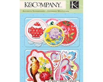 NEW  --  K & Company Brand --  21 pieces  --  Layered Accents  --  Bloomscape  (#766)