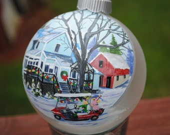 Unique Christmas gift idea... Hand Painted Home Ornament done from picture..    SOLD