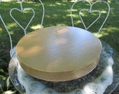 """Cake Stand 18 inch """"Gold Floral Leaf"""""""