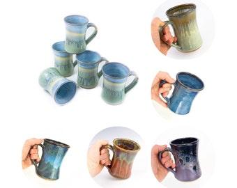 Hand thrown stoneware mug in hourglass shape- choose your color / coffee mug | tea mug | custom mug | large mug /  MADE TO ORDER (6 weeks)