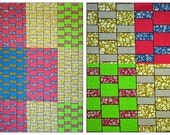 Multicolor patchwork African print Fabric  wax print sold per yard/ African Weddings/ African  print Clothing/ Home decor