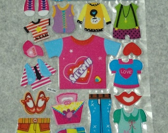 Cute Little Puffy Shining Clothing  Stickers