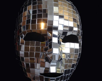 Venice Carnival of mirrors Full Face Silver Mirror Halloween Mask