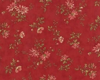 Atelier - Delicate Sprays in Scarlet by 3 Sisters for Moda Fabrics - Last Yard