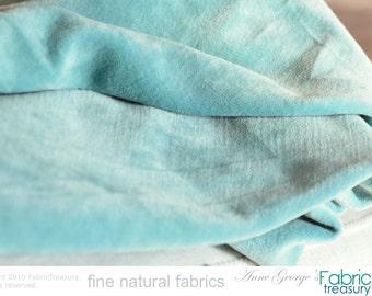 """Luxury Velvet Fabric by the yard. Velvet Upholstery Fabric. Organic cotton fabric by the Yard. Green Velvet. DOLCE VITA. Old Mint. 47"""" W."""