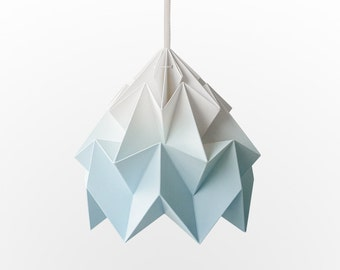 NEW: Moth origami lampshade gradient blue