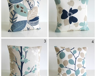 Duck egg pillow cover, 10x10 cushion cover, pillow sham, throw pillow, pillowcase, slip case, pillow cover - Nordic Blue Collection