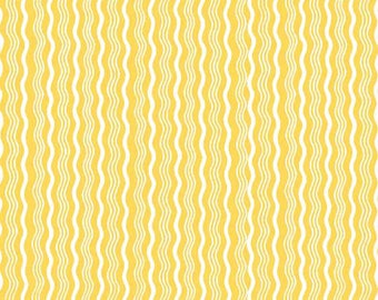 SALE - One Yard - Hipster Crimp in Yellow by Riley Blake