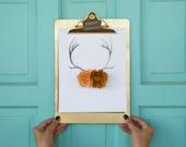 Felt wildflower antler print