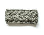 Grey woollen headband