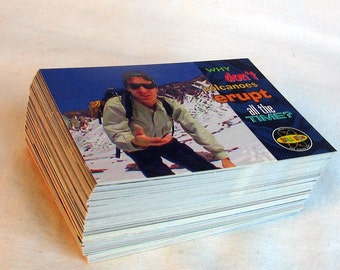 Bill Nye The Science Guy  94 Trading Cards Complete Base Set - 1995 SKYBOX Disney Awesome fun for teachers and students