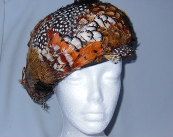 Vintage Hat made of Natural Feathers 1950-60