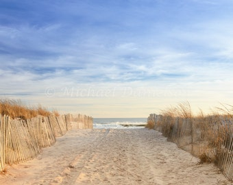 Beach Photograph Print This Way to the Ocean 8x10