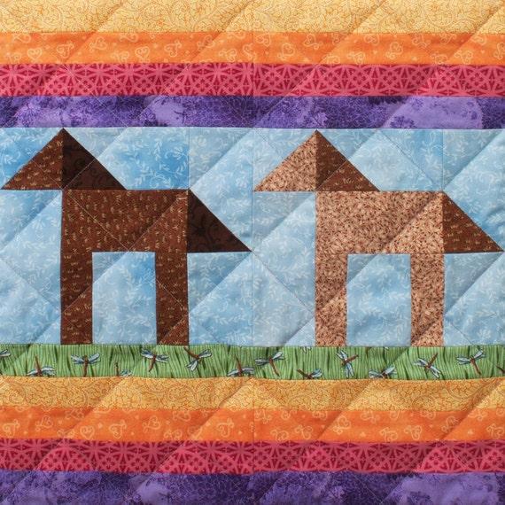 Pony Trails Patchwork Quilt Block Pattern : pony quilt - Adamdwight.com