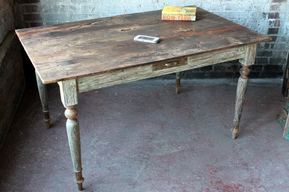 SALE Reclaimed Old Farm Table Balinese Dining Table Kitchen Table Antique  Dutch Table Wood Desk