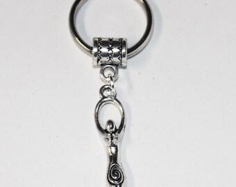 Silver Lunar Goddess Key Chain Key Ring key Holder Key Fob KC-PGH010