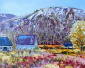 """Canadian scenery, Charlevoix landscape, gift, Original Canadian oil painting on canvas - Home decor 12"""" X 12"""""""