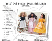 Barbie Peasant Dress with Apron and Octoberfest Dirndl: PDF Pattern Download