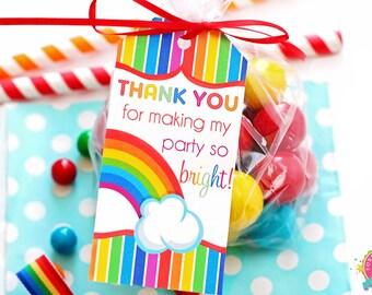 Rainbow Favor Tags / Rainbow Gift Tags / Rainbow Birthday / Rainbow Party / Rainbow Printables /  INSTANT DOWNLOAD
