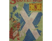 SCOTLAND 1F- Handmade Leather Passport Cover / Travel Wallet - Travel Art