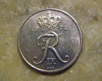 Denmark Danmark 10 Ore Coin 1972