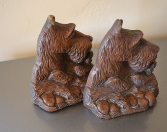 Great Pair of Vintage Scottish Terrier Bookends