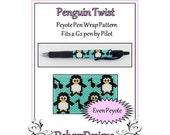 Bead Pattern Peyote(Pen Wrap/Cover)-Penguin Twist
