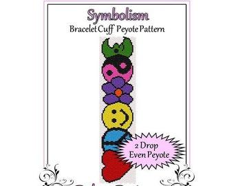 Bead Pattern Peyote(Bracelet Cuff)-Symbolism