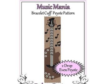 Bead Pattern Peyote(Bracelet Cuff)-Music Mania