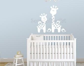 Wall Decal Nursery - Nursery wall decal - Giraffe Decal - Crib decal - Baby wall decal - Giraffe