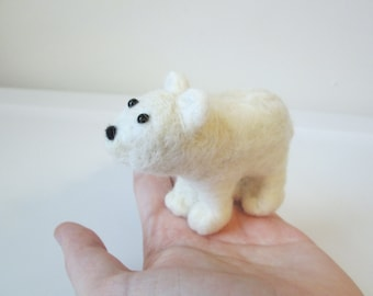 Polar Bear - Felted Bear - Needle Felted Animal