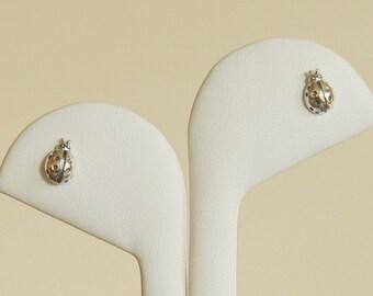 Ladybug Earrings, Sterling Silver, Stud Earrings, Handmade Jewelry, Children Jewelry, Birthday Gift, Bridesmaid Gift, Christmas Gift