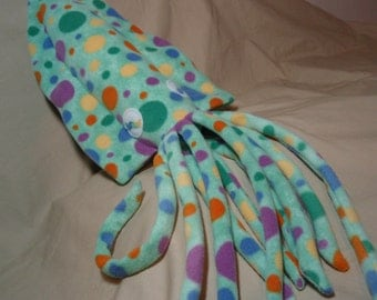 Bianca the Spotted Light Green Fleece Plush Cuddlefish - Plush Cuttlefish Stuffed Animal