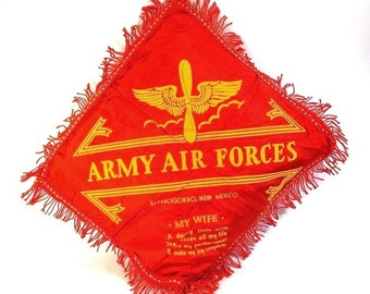 Sweetheart Pillow, Army Air Force, My Wife Alamogordo, New Mexico
