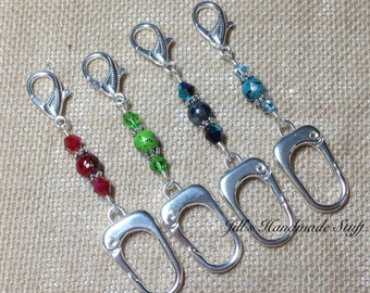 Large Stitch Marker Holder- Beaded Keeper for Stitch Markers- Knitting Gift Idea- Tools- Supplies- organizer