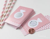24 Scratch-off Cards for Bridal Shower or Bachelorette Game // Blush Pink