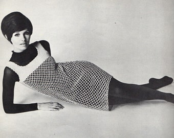 "Fleisher Bear Brand Book Vol. 23  ""In"" CROCHETS HIP MOD Fashion Garments 1960s"