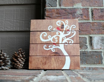 Tree of Life Reclaimed Wood Home Decor - Hand Painted