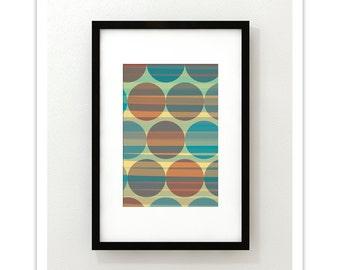 LATTICE no.5 - Giclee Print - Mid Century Contemporary Modern Abstract Modernist Geometric Art