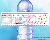 Sweet Shoppe Waterproof Water Bottle Labels - Personalized Stickers, Party Favor Labels - Set of (25)