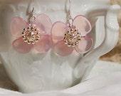 Pink Penny Blossom Earrings.......iten number 0416