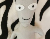 Roger from American Dad cartoon stuffie plush alien doll