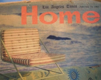 Vintage Mid Century Los Angeles Times  Sunday Home Secton - Eames, Maloof, Williams Designers
