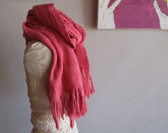 Colors From Nature - Handwoven and Felted Sculptural Scarf - Naturally Dyed Merino