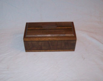 Fancy Walnut with Goncalo Alves trim and inlay catch all box