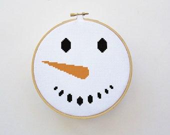 Snowman Cross Stitch Pattern - PDF File - Instant Download - Winter Cross Stitch, Counted Cross Stitch Pattern, X Stitch Pattern
