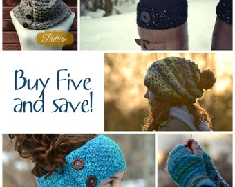 SALE! Buy 5 Living Skies Crochet Patterns and save!