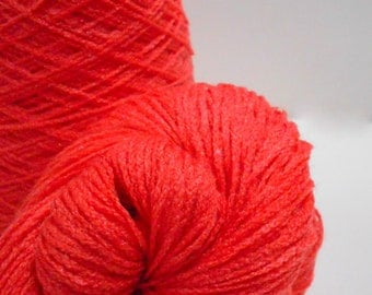 3 skeins of Tamm Yarns, 2 Ply Acrylic Persimmon Colored, Fingering Weight, Y102